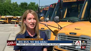 Test Your Skills Driving A School Bus At Hiring Fairs In Olathe Today, Next Week