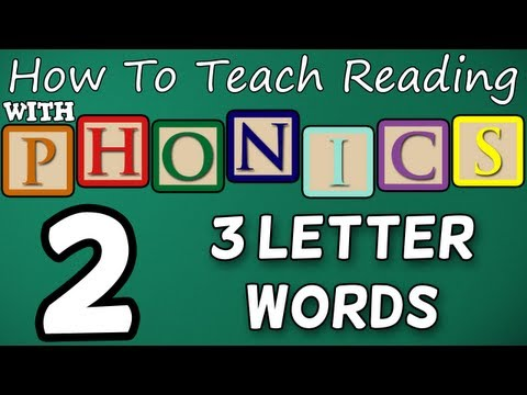 How to Teach Reading - Lesson 2 - CVCs (3 Letter Words)