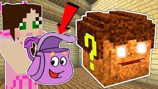 Minecraft: DORA THE EXPLORER LUCKY BLOCK!!! (DORA'S BACKPACK, SWIPER, & BOOTS!) Mod Showcase