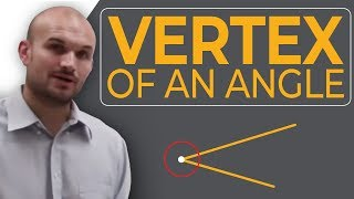 What is the vertex of an angle?