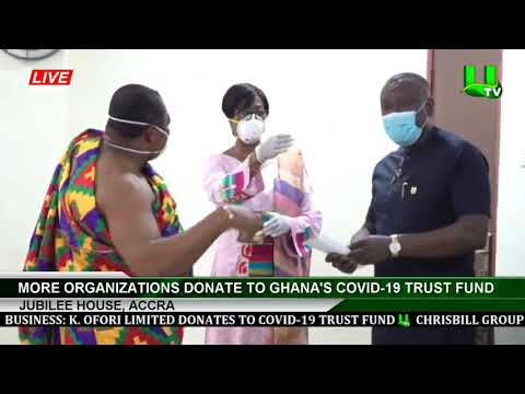 More Organizations Donate To Ghana's Covid-19 Trust Fund