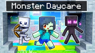 Dropped off at MONSTER Daycare In Minecraft!