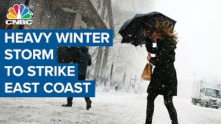 Winter storm forecast to strike most of the Eastern Coast with heavy ice and snow