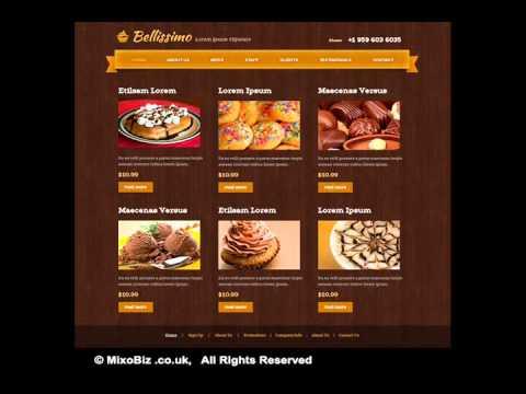 Food & Drinks related web design samples ( MixoBiz )