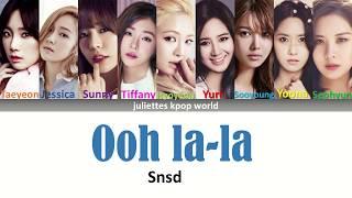 Snsd-Ooh la-la (color coded han/rom/eng lyrics)