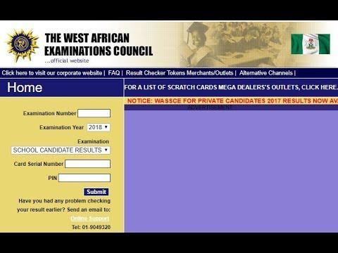 Waec  2018 Result Checker 59.56% pass this examination