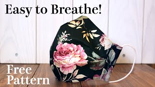 【Free Pattern】Breathable Face Mask With Filter Pocket Sewing Tutorial|Big Space Mask