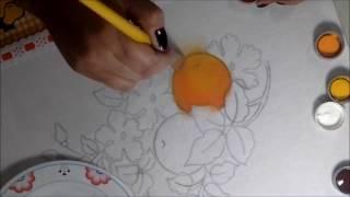 Pintando laranja, sombreando e iluminando
