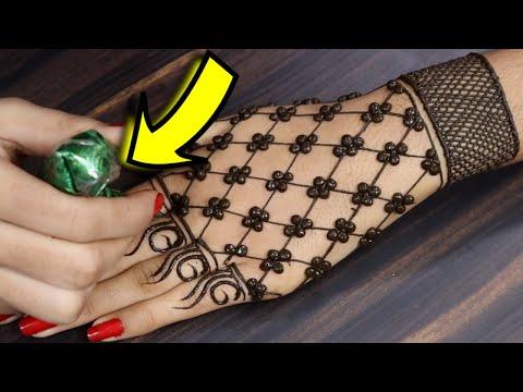 आसान मेहँदी लगाना सीखे - शेडेड करवाचौथ मेहँदी - Easy Diwali/ Karwachauth Gol Tikki Mehndi Design