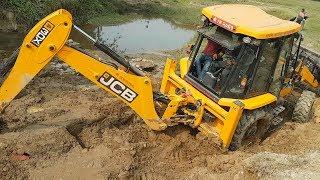 JCB Working For New Bridge Construction - JCB Dozer Working Video