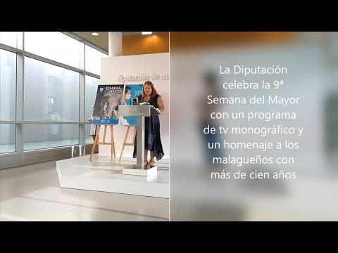 La Diputación celebra la 9ª Semana del Mayor con un programa de tv monográfico y un homenaje a los malagueños con más de cien años