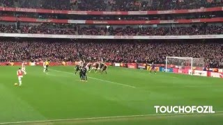 Danny Welbeck Goal Arsenal Vs Leicester 2-1  - Great Fan View