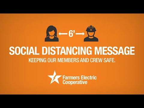 Social Distancing Message