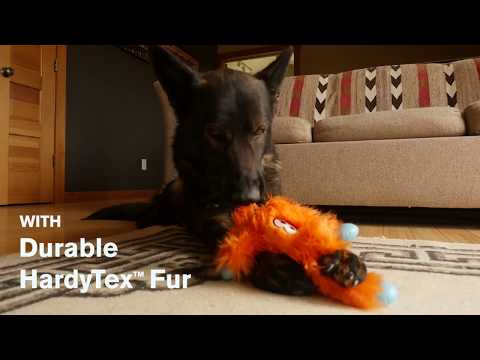 WEST PAW Rowdies Rosebud Игрушка пищалка для собак Роузбуд пушистый Video #1