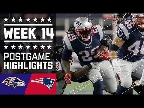 Ravens vs. Patriots | NFL Week 14 Game Highlights