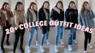 20+ CASUAL COLLEGE OUTFIT IDEAS | SPRING & WINTER | LOOKBOOK