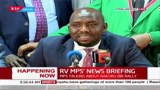 Murkomen downplays Nakuru BBI rally, says it\'s a show of political might and strength