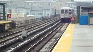 preview picture of video 'IND Far Rockaway Line: On Board R46 H Train to B 67th St-Arverne By The Sea (B 90th St Bound)'