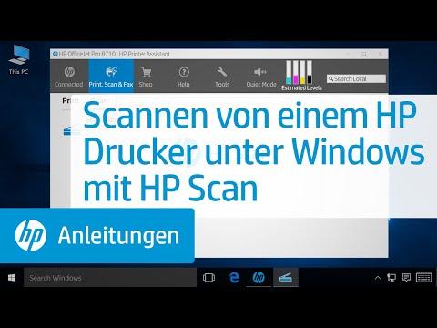 Scannen von einem HP Drucker unter Windows mit HP Scan
