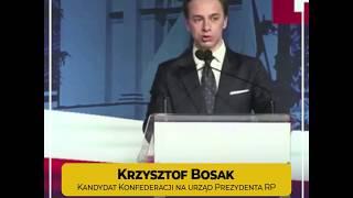 Krzysztof Bosak kandydatem Konfederacji na urząd Prezydenta RP! | Pierwsze przemówienie