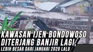 Video Detik-detik Banjir Kembali Terjang Ijen Bondowoso, Lebih Besar dari Januari lalu