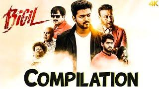 Bigil | Happy Pongal 2020 | Compilation | Vijay | Nayathara | 4k (English subtitles)