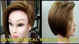 Asymmetrical Pixie 1 !! Asymmetrical Pixie Cut !! Asymmetrical Pixie Cut Tutorial !! DANISH HANIF