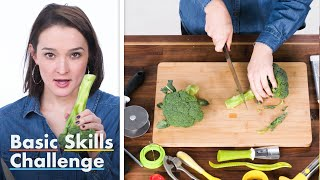 50 People Try To Cut Broccoli into Florets | Basic Skills Challenge | Epicurious