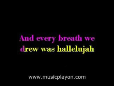 hallelujah lyrics rufus wainwright español
