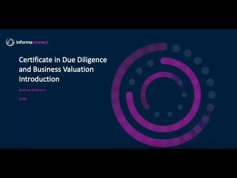 Certificate in Due Diligence & Business Valuation Introduction ...