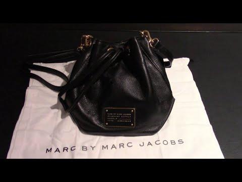 Marc by Marc Jacobs M0007214 Black New Too Hot To Handle DrawString Pochette Mini Shoulder Bag