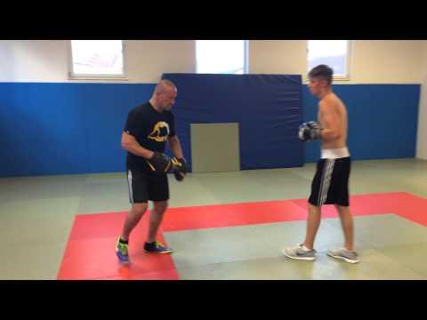 Boxen Pratzen Training  Бокс работа на лапах