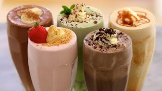 5 Homemade Ice Cream Milkshakes - Gemma's Bigger Bolder Baking Ep  71