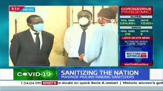 Masinde Muliro University at the forefront of making sanitizers
