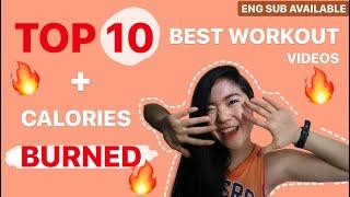 TOP 10 BEST WORKOUT VIDEOS FOR WOMEN TO BURN FAT + CALORIES BURNED🔥| PAMELA REIF, MADFIT,BLOGILATES