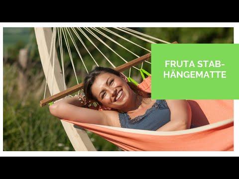LA SIESTA Fruta - Single-Stabhängematte in bunten Farben