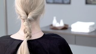 Aveda How-To | Looped Braid Hairstyle with Dry Shampoo & Conditioner