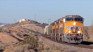 HD: Cajon, Cima, Needles, Los Angeles, Yuma, And Mojave Subdivision Railfanning In December 2015