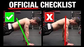 The Official Push Up Checklist (AVOID MISTAKES!)