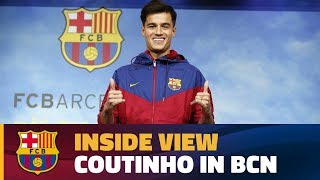[BEHIND THE SCENES] Coutinho's First Day At Barça