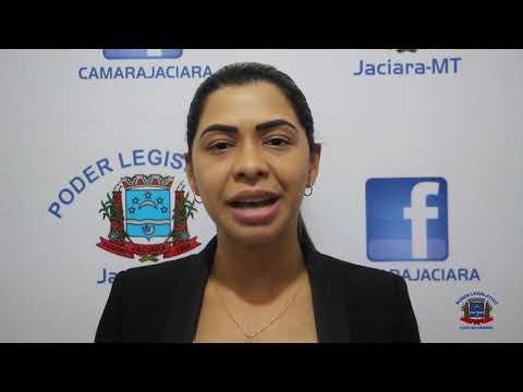 Sessão realizada na noite da última terça-feira, dia 26, Fala da Vereadora Tuca.