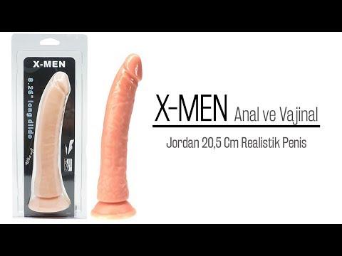 Jordan 20,5 Cm Anal ve Vajinal Kullanılabilen Realistik Penis