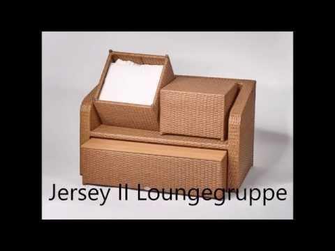 Loungeset Destiny Lounge Jersey Gartenmöbelset Balkonset Sitzgruppe Polyrattan