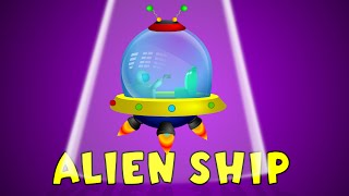 Alien ship | Space Wars | Video for Kids | Space Vehicles | Construction Game | Cranes | Diggers