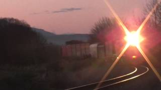 preview picture of video 'DXR 8007 ahead of 729 approaching Kaiapoi'