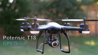 Potensic D85 Brushless 1080p 5G WIFI GPS Drone Flight Review