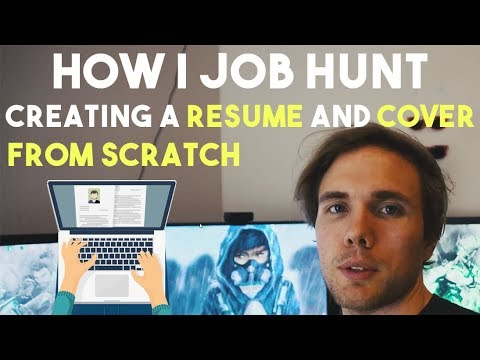 CREATING A RESUME FROM SCRATCH. HOW I APPLY TO SOFTWARE JOBS. (Web Developer)