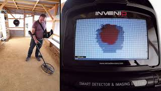 Invenio - Detection of a circle with 45cm diameter made of 8mm rebar