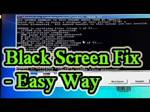 Video Windows 7 & 8 - Black Screen With Cursor at Start-up FIX
