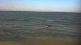 preview picture of video 'Sea swimming at Minnis Bay, Kent'